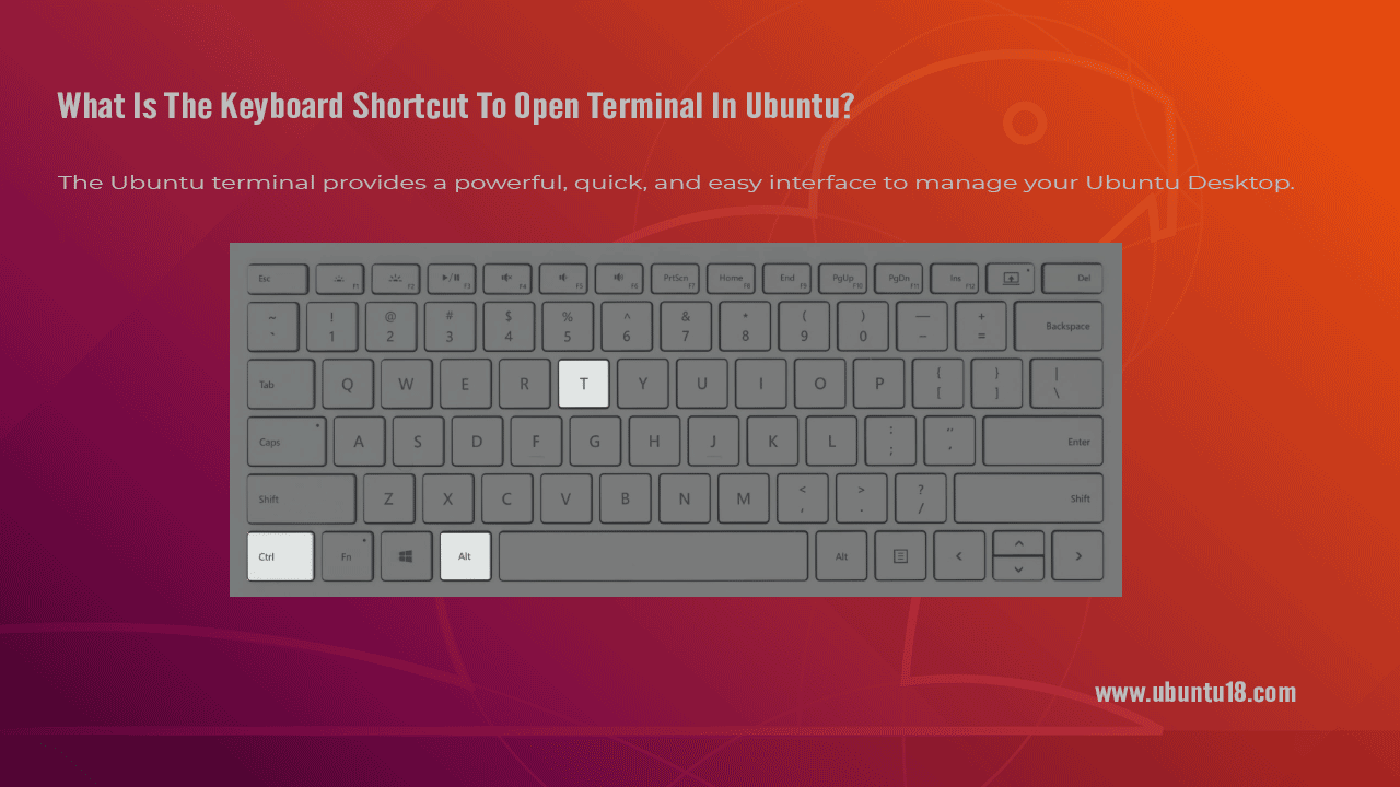 What Is The Keyboard Shortcut To Open Terminal In Ubuntu?