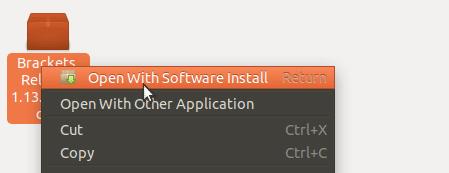 Install brackets deb package on Ubuntu