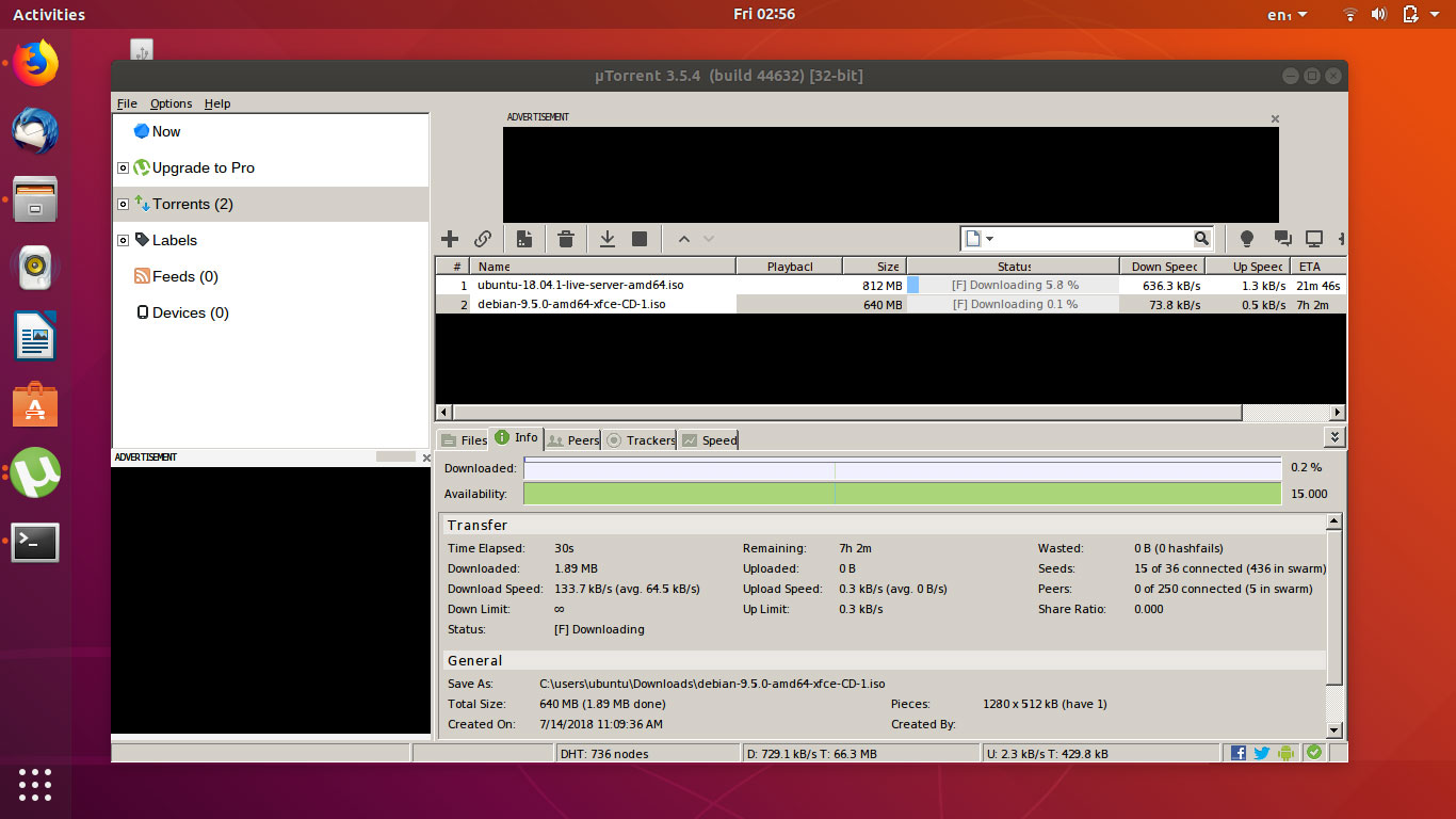 How to Install uTorrent in Ubuntu 18.04