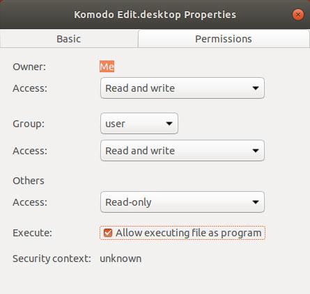 Create desktop launcher for Ubuntu Komodo Edit