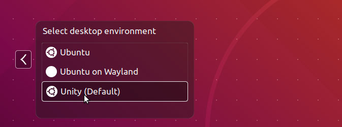 login Unity Desktop on Ubuntu 18.04