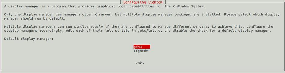 gdm3 display manager for Ubuntu Lxde Desktop