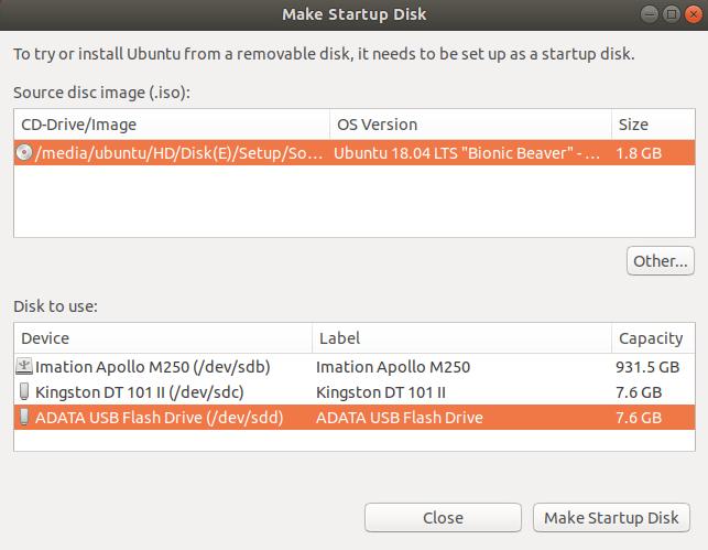 Make Ubuntu Bootable USB on Ubuntu