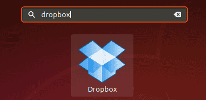After the installation is complete,  You can start Dropbox app from your applications menu