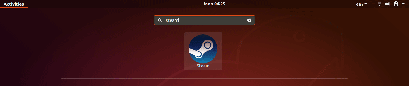 open the steam client from the Ubuntu application menu.