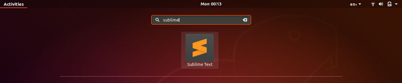 To open the editor, go to the application menu and search sublime.