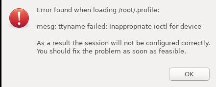 error found when loading root