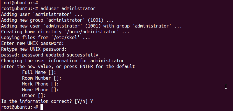 ubuntu create user