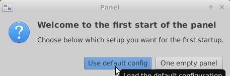 Use default config on Ubuntu Xfce desktop