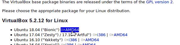 Download Oracle VM VirtualBox for Ubuntu 18.04.