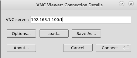 To access the server remotely, a VNC viewer software should be installed on the remote computer