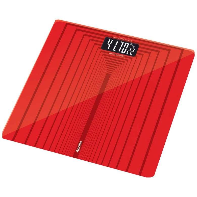 Aprilla abs-1026 dijital banyo baskülü-kırmızı