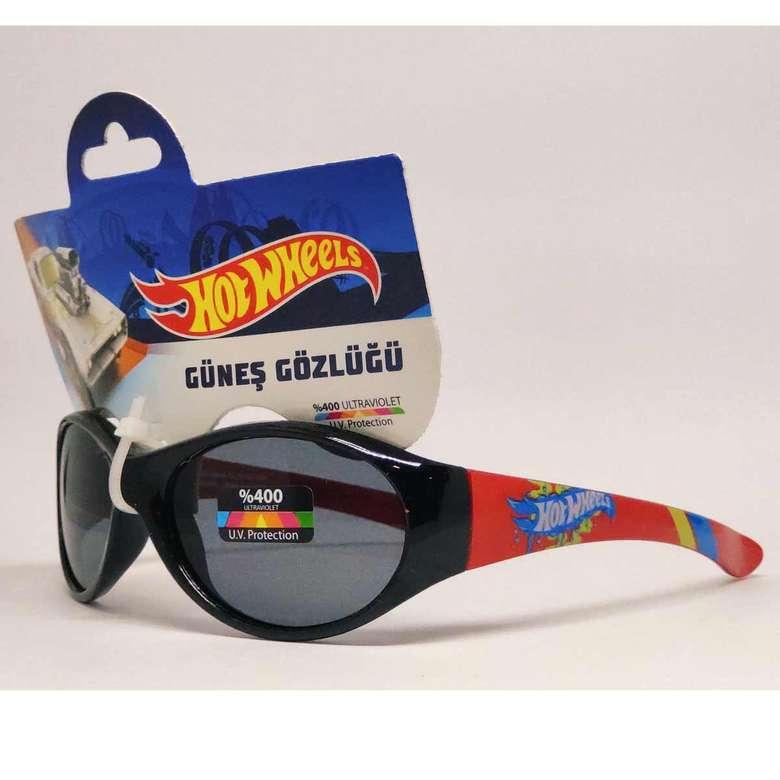 Lisanslı çocuk güneş gözlüğü - hot wheels siyah turuncu
