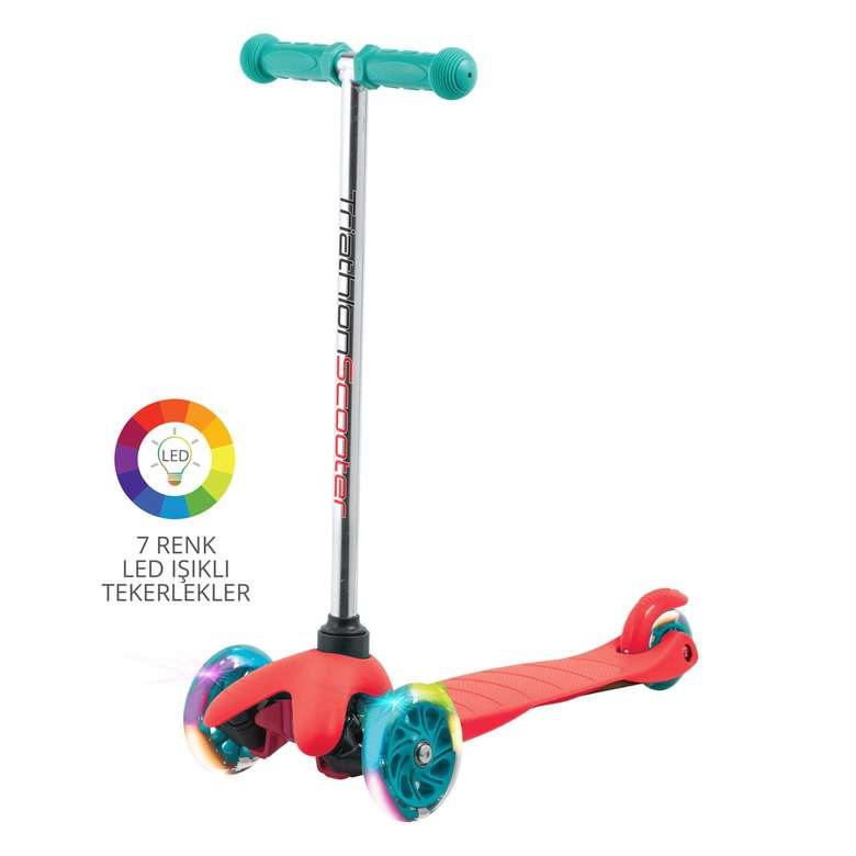 Piranha işıklı scooter - kırmızı