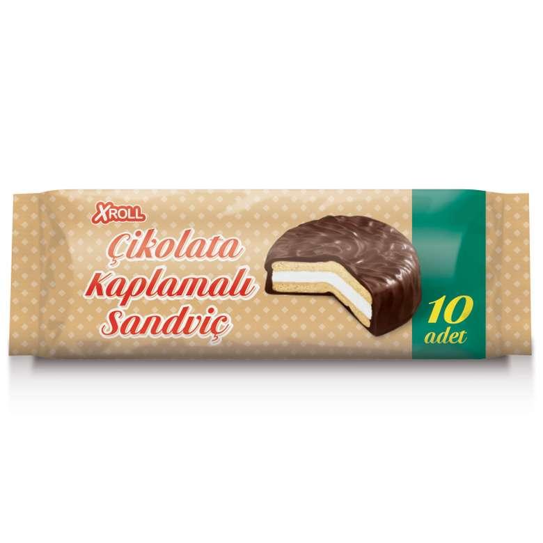 Xroll çikolata kremalı bisküvi