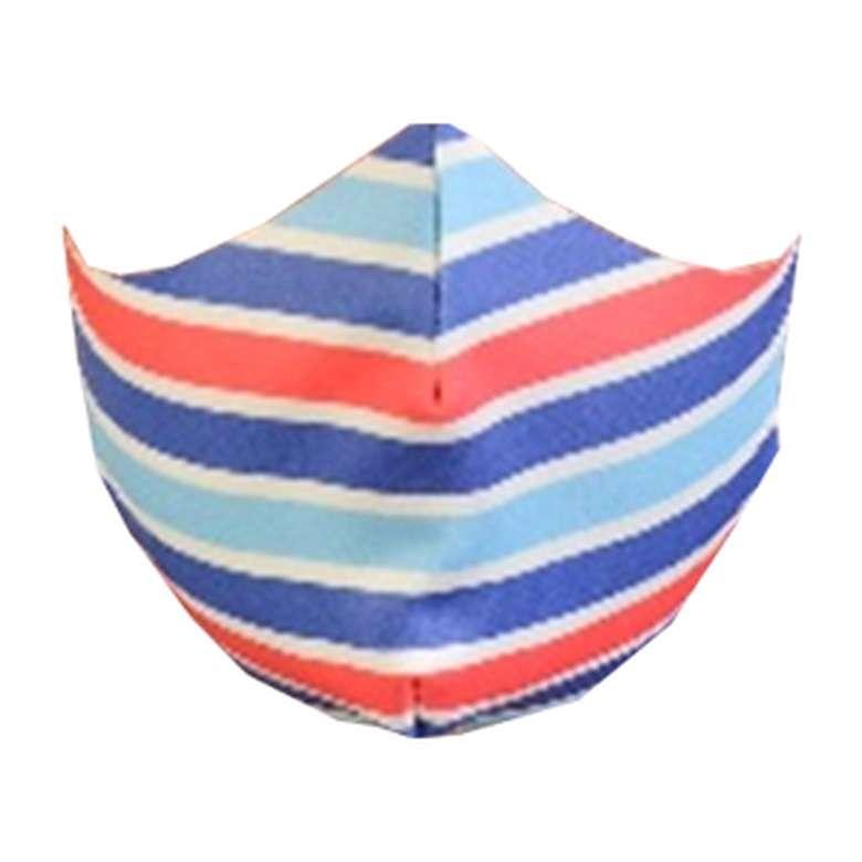 Yıkanabilir desenli yetişkin maske - mavi-turkuaz