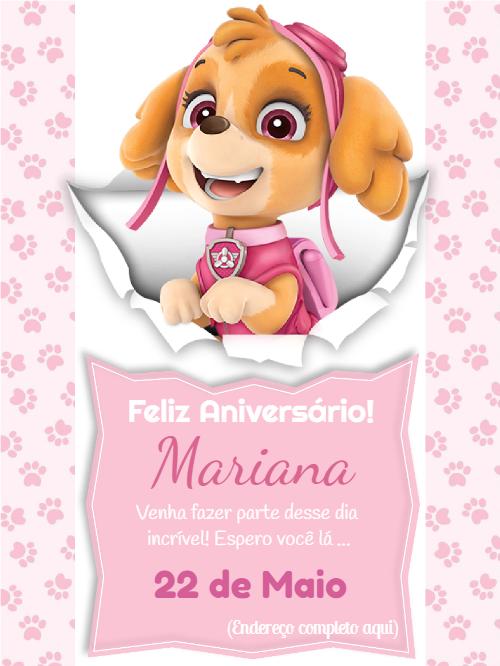 Dog Patrol Birthday Invitation