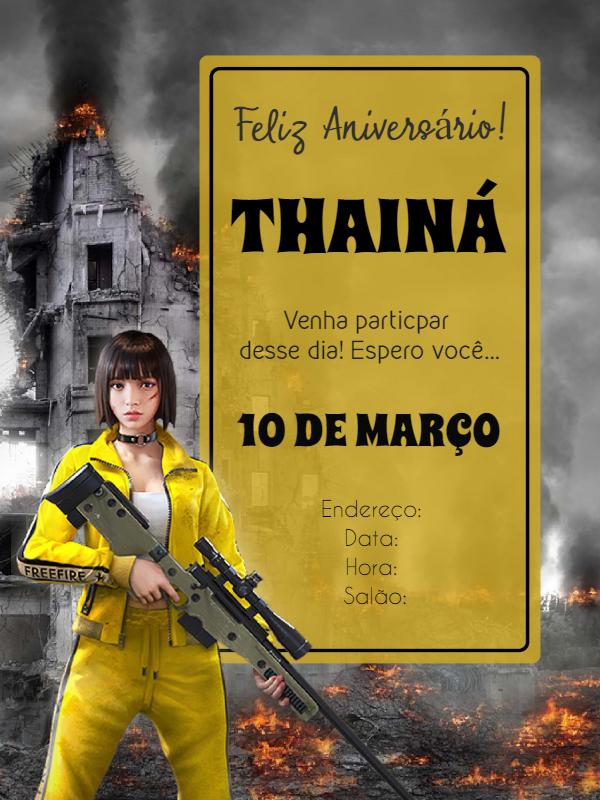 Free Fire Birthday Invitation