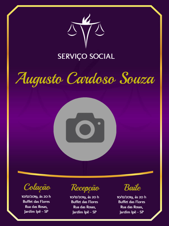 Social Service Graduation Invitation