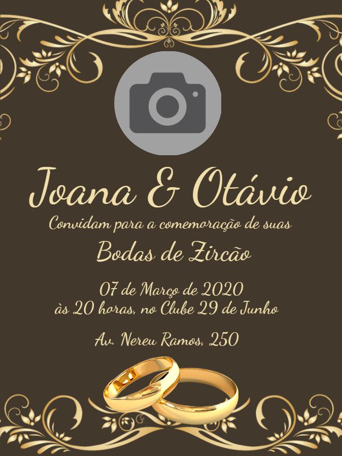 Zircon Wedding Invitation
