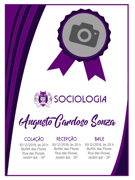 Sociology Graduation Invitation
