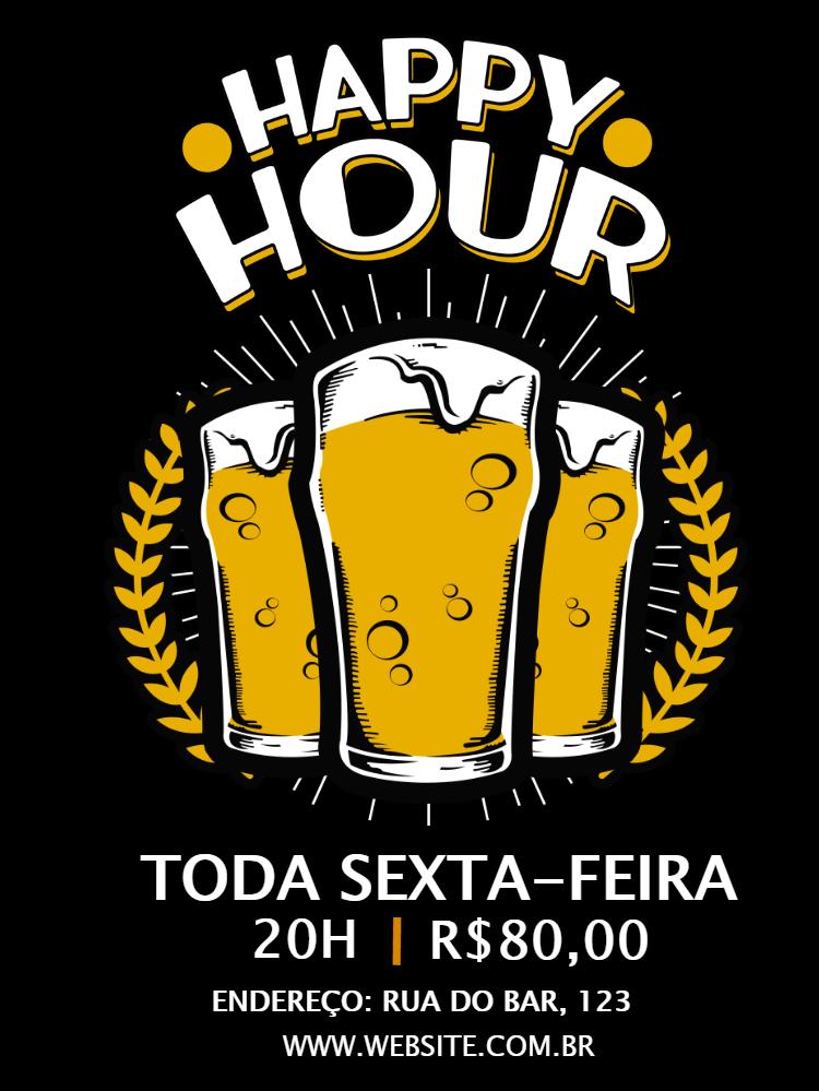 Happy Hour Restaurant Invitation