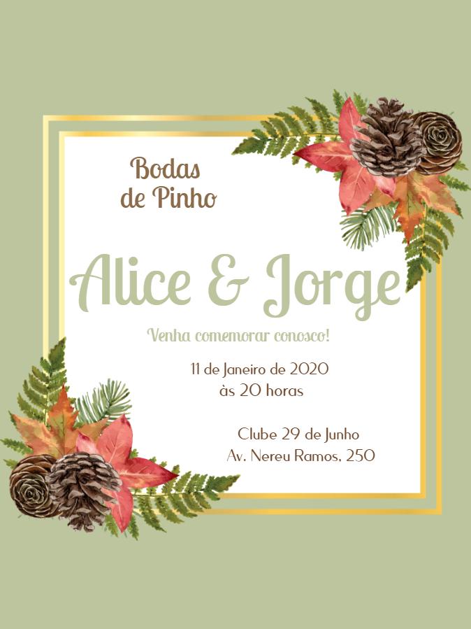 Pine Wedding Invitation