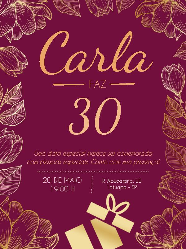 Maple Birthday Invitation