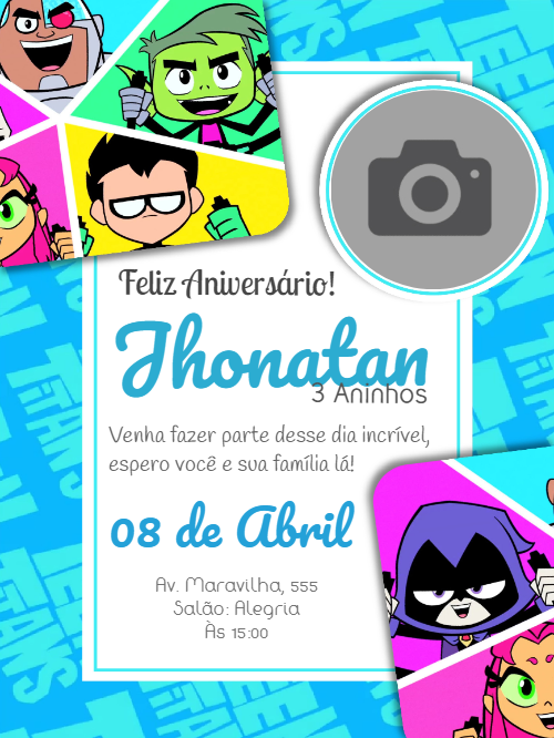 Young Titans Birthday Invitation