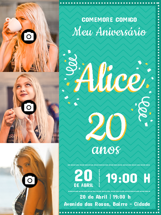 Birthday Invitation 3 Photos