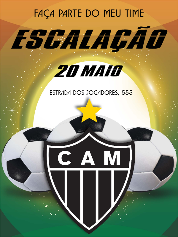 Atlético Mineiro Birthday Invitation