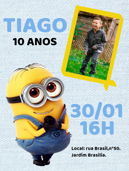 Birthday Invitation Minions