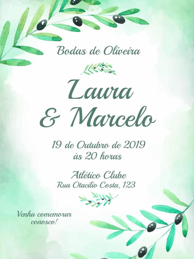 Oliveira Wedding Invitation