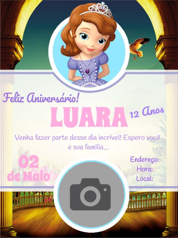 Princess Sofia Birthday Invitation