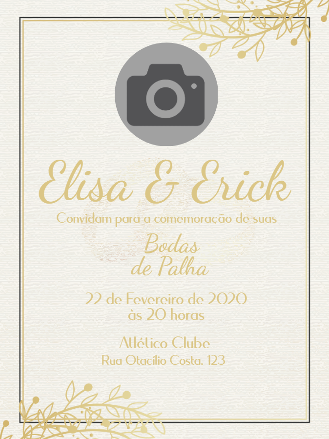 Straw Wedding Invitation