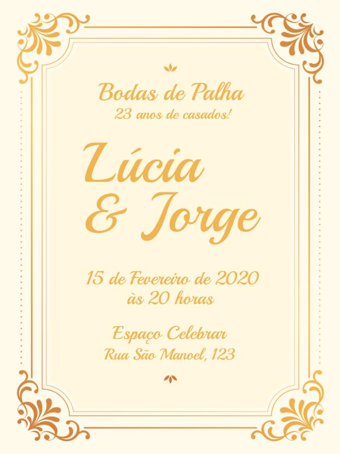Straw Wedding Invitation