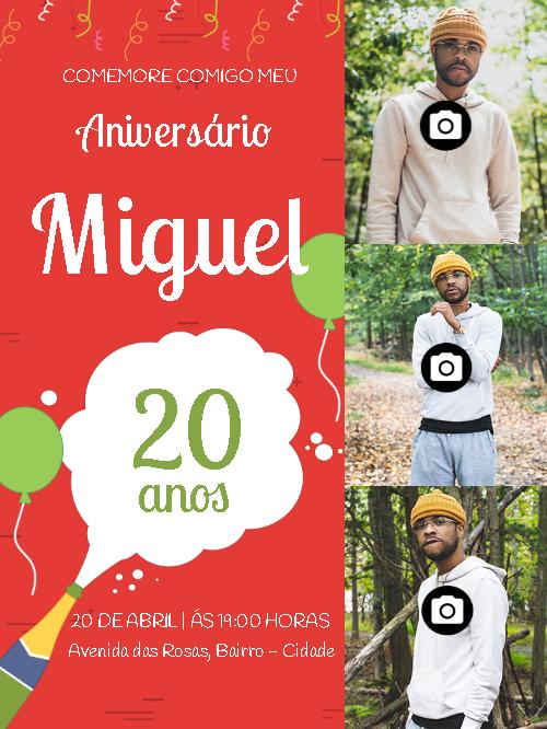 Male Birthday Invitation Photo Collage