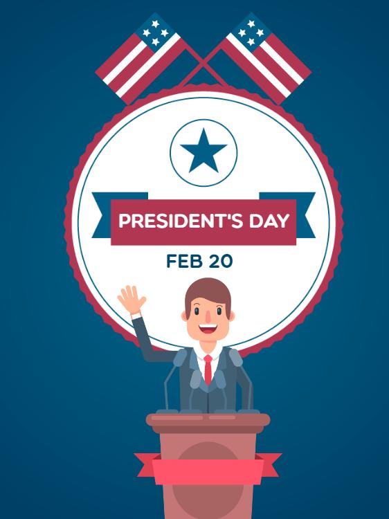 Tarjeta feliz del día de los presidentes