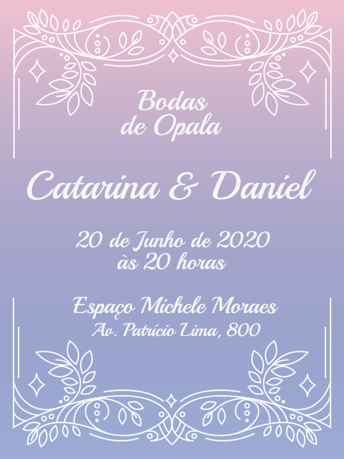 Opal Wedding Invitation