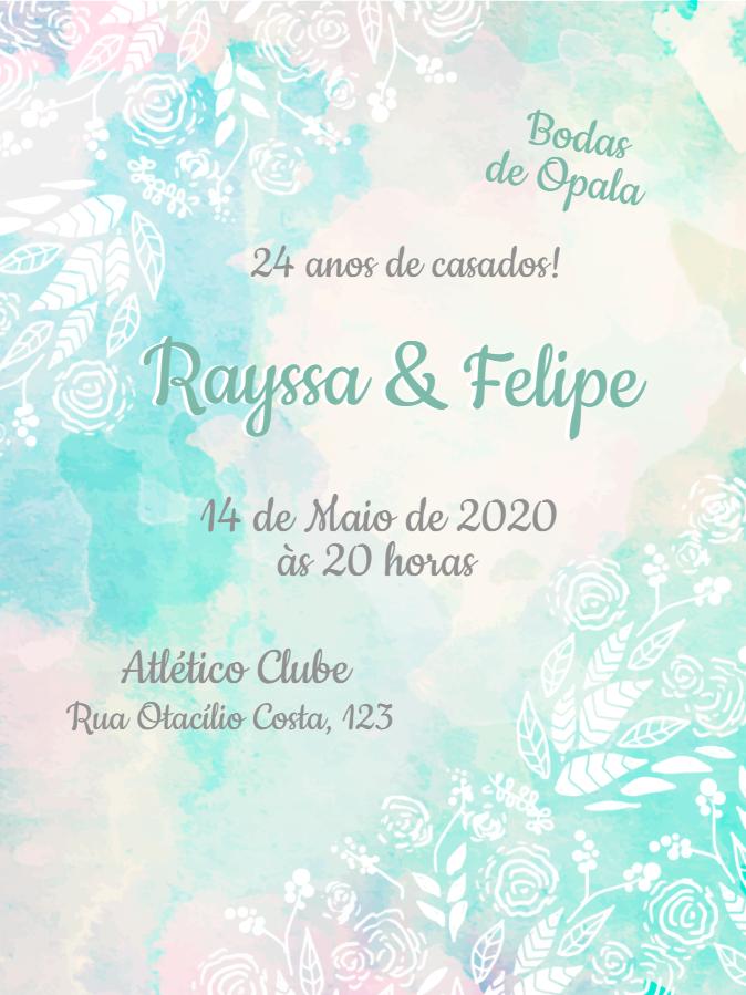 Opal Wedding Invitation