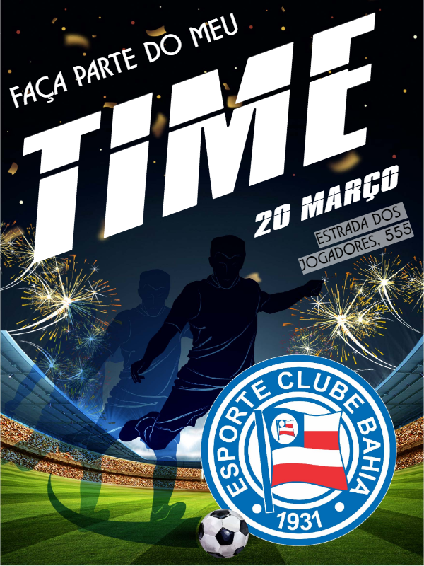 Bahia Football Birthday Invitation