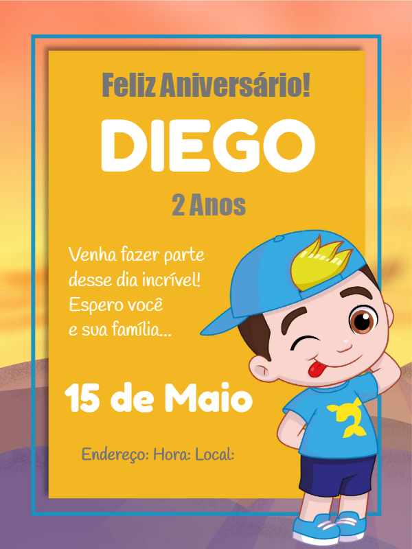 Luccas Neto Birthday Invitation