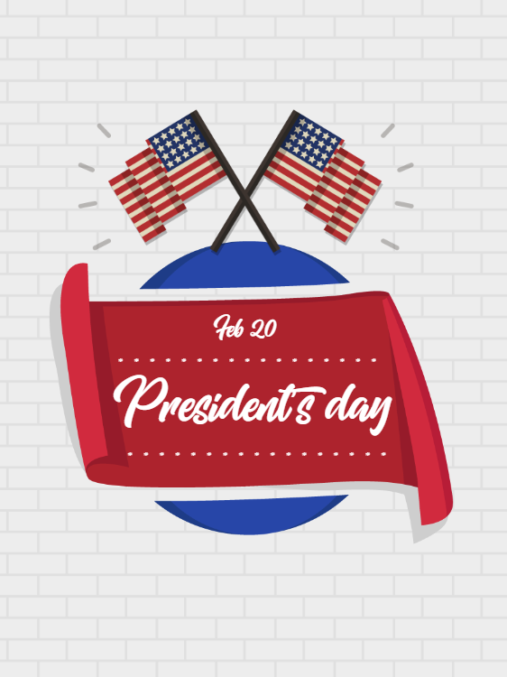 Presidents Day Holiday Card