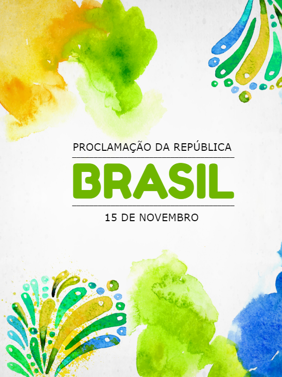 Proclamation of the Republic of Brazil - Colorful