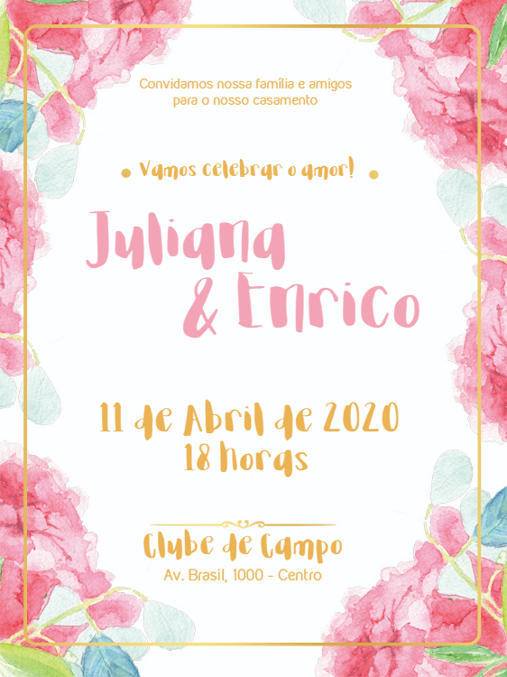 field wedding invitation