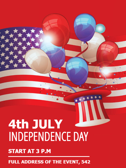 American Independence Day Event Invitation