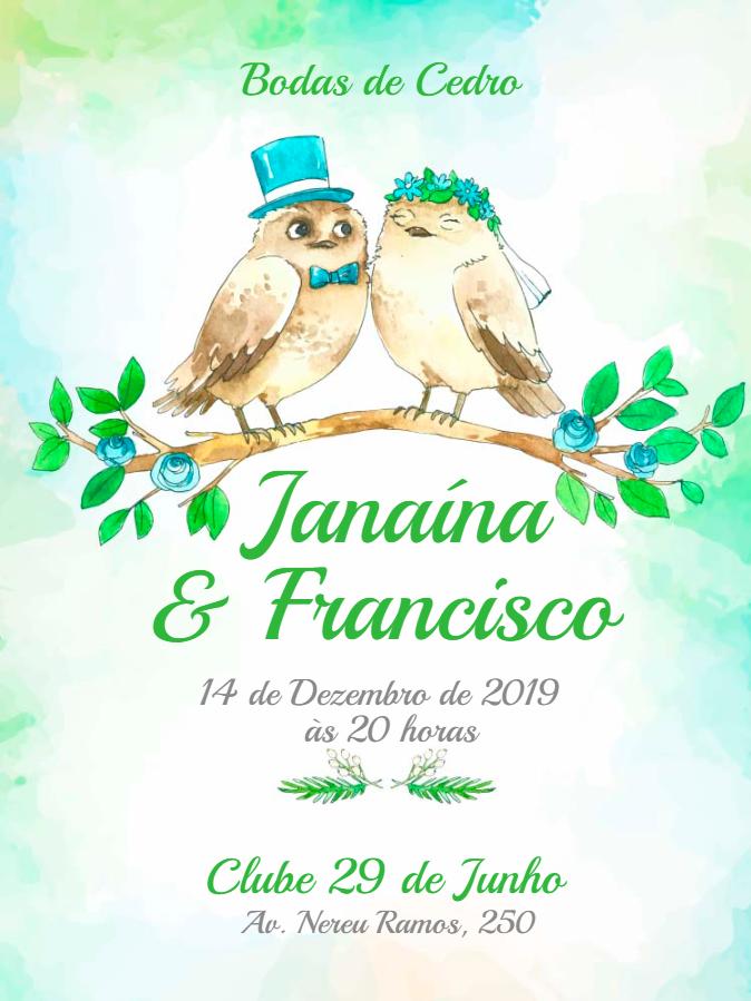 Cedar Wedding Invitation