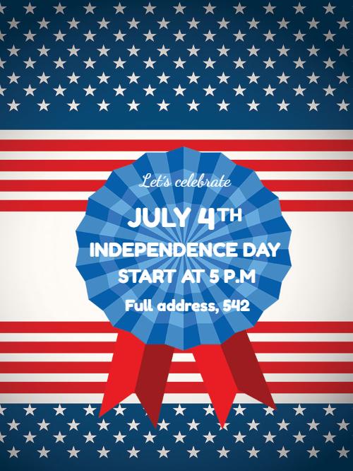 USA Independence Invitation Card