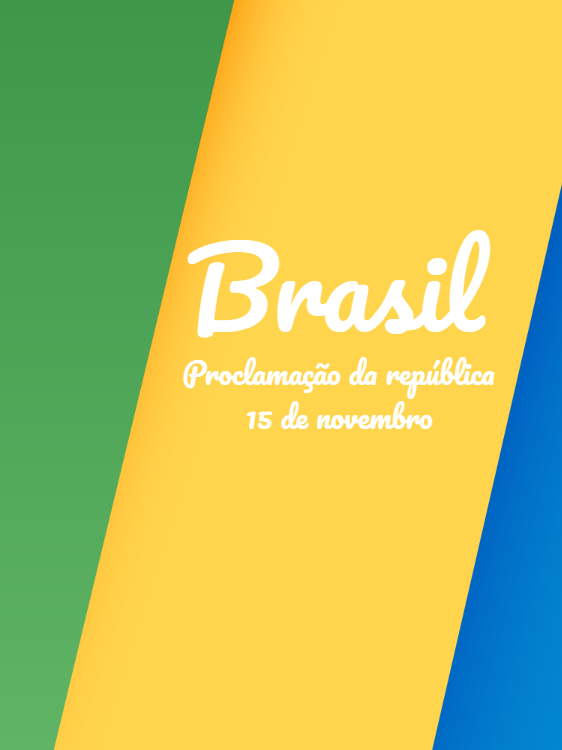 Proclamation of the Republic of Brazil Card