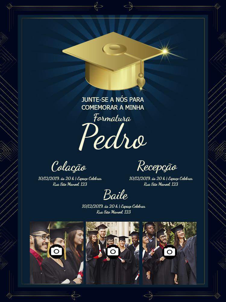 Graduation Invitation 3 Photos